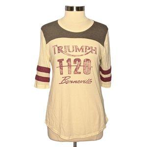 Lucky Brand Triumph T120 Bonneville Graphic Tee